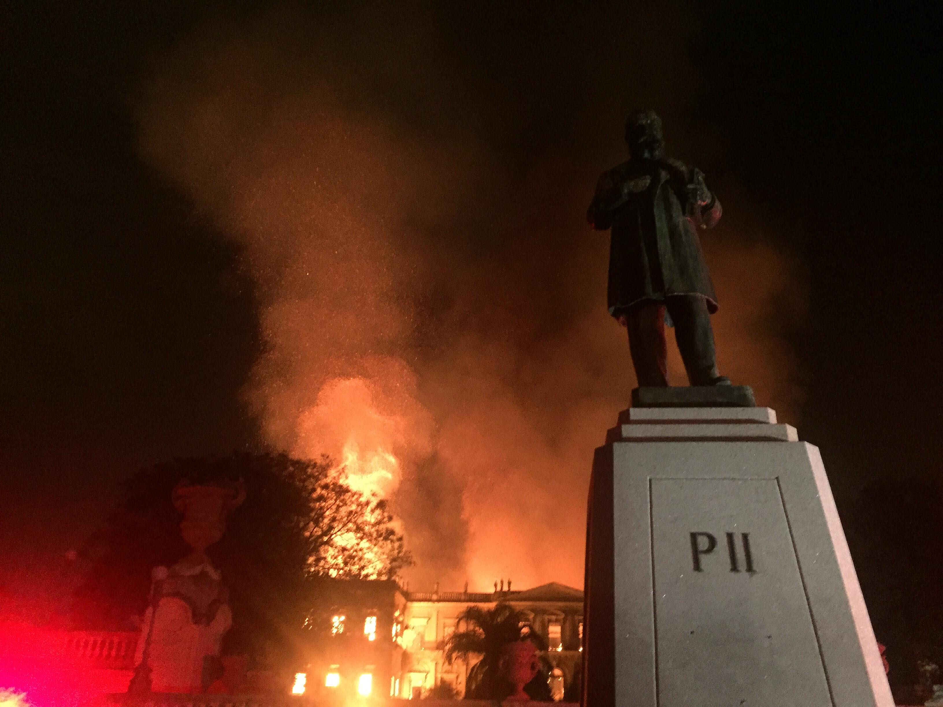 National Brazilian Museum under fire. By Felipe Milanez - Sent by the photographer -- OTRS-sent, CC BY-SA 4.0, https://commons.wikimedia.org/w/index.php?curid=72299257