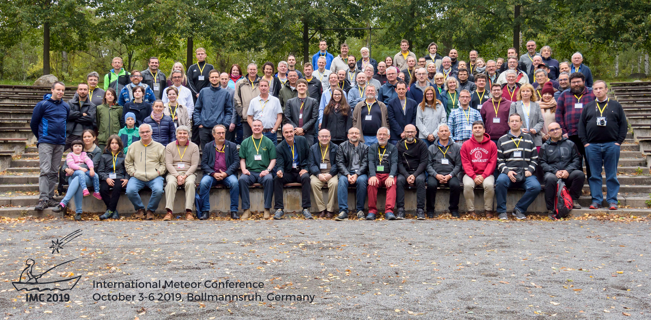 IMC 2019 participants picture. 99 people attended the conference which occured in Bollmansruh, Germany. Credit: Photo Mariusz Wiśniewski